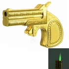 Creative Gun Shape Gas Type Cigarette Lighter - Golden