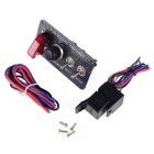 IZTOSS Racing Car Start LED Ignition Switch Panel for XH-3018 - Black