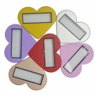 Heart-Shaped LED White Light défilement Message Badge / Nom Tag