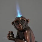 Shoe-Shaped Ingot Holding Monkey Style Butane Gas Lighter - Bronze