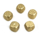 Exquisite Aluminum Alloy Dice - Golden (5pcs)