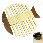 Bamboo anti-queimadura Tablemat Placemat isolamento Pad - Madeira Cor