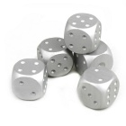 Exquisite Aluminum Alloy Dice - Silver (5 PCS)