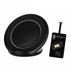 Cwxuan Universal Anti-Slip Qi Micro USB Wireless Charger Kit - Black