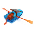 Solar Powered Canoe Assembly DIY Ship Toy - Blue