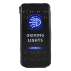 LZTOSS S1004 12~24V Red LED Light Rocker Switch for Boat / Car - Black