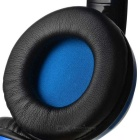 VYKON Bluetooth Headphone Voice Headset w/ Microphone - Black + Blue