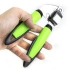 Kitchen Tool Stainless Steel Garlic Press - Silver + Green