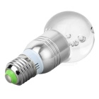 E27 3W RGB Color Light LED Crystal Globular Bulb (85~265V)