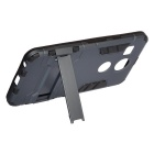 Protective Back Case w/ Stand for Google Nexus 5X - Black + Iron Gray
