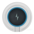 Universal Phone Built-in Qi Standard Wireless Charger w/ Blue Indicator Light - Black + Blue