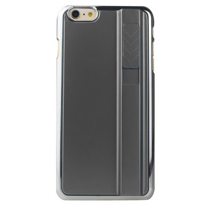 PC Back Cover Case for IPHONE 6 PLUS w/ Cigarette Lighter - Black