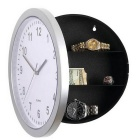 Creative Wall Clock Storage Safe Deposit Box - White + Multi-Colored