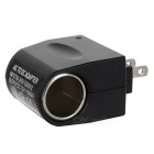 US Plug 90 ~ 240V till 12V Car Cigar Light Adapter - Svart