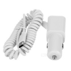 USB 3.1 Type-C to 2-USB Car Charger Cable for Nokia N1 + More - White