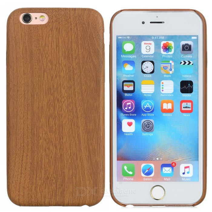 S-What Wood Grain Pattern Back Case for IPHONE 6 / 6S - Burlywood