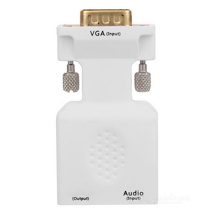 VGA + 3.5mm Audio to HDMI Video Converter w/ USB Power Supply Port
