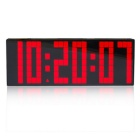 Large LED Big Number Alarm Clock / Wall LED Clock / Digital Countdown Timer Alarm - Black + Red