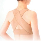 Posture Correction Belt w/ Gather Breast Care Corset - Fleshcolor (XL)