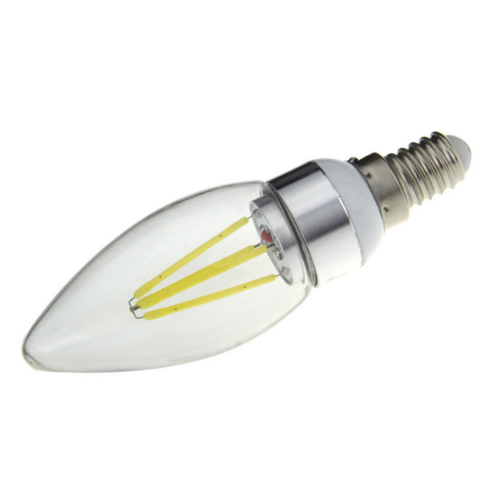 FandyFire E14 4W 4-COB Household Light Bulb Cold White 6500K 700lm (AC 220V)