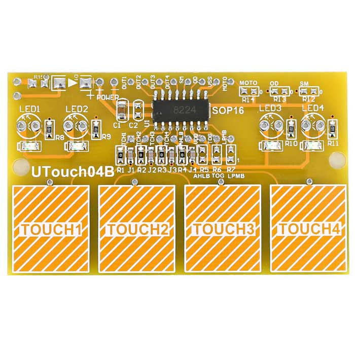 4-CH Anti-interference Digital Capacitive Touch Sensor Switch Module