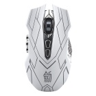 JIANSHENGYIZU JS Classic 10-Key Wireless Professional Game Mouse w/ Colorful LED Light  White