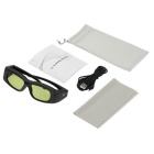 Universal 3D IR & Bluetooth Active Shutter Glasses TV Glasses - Black