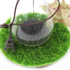 Iron Powder Flowering Magnetic Force Sand Glass - Transparent + Black