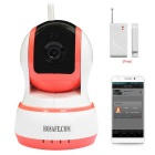HOSAFE 1MW20 CMOS 1.0MP Home Security IP Camera w/ 10-IR-LED, Door&Window Sensor, TF - Pink + White