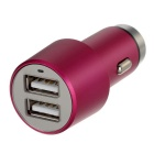 5V 4.1A (2 * 2.1A) 2-USB Safety Hammer & Car Charger - Dark Pink