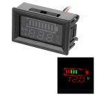 Red + Green LED Battery Indicator Voltage Meter Displayer for 12V Lead-acid Storage Battery - Black