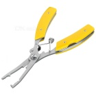 Multifunctional Hook Remover / Line Cutter / Knife / Scaler Fishing Lure Pliers Tool - Yellow