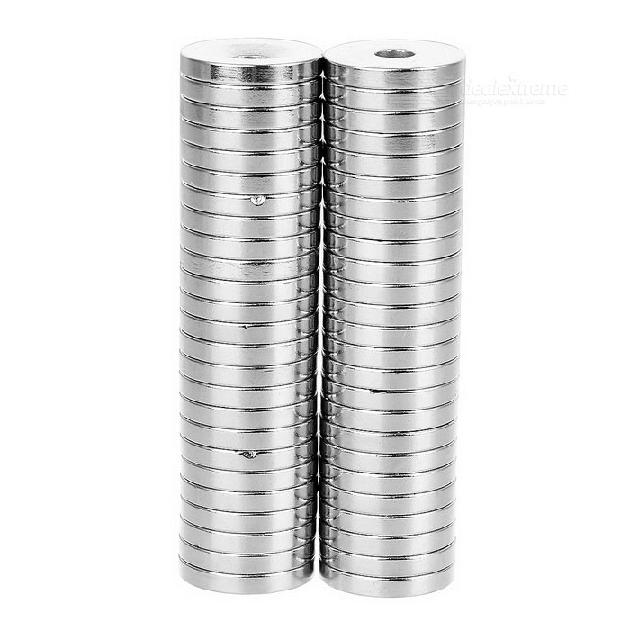 18 x 3-5mm Round NdFeB Neodymium Magnet - Silver (50pcs)Magnets Gadgets<br>Form Colorcustom10000MaterialNdFeBQuantity1 SetNumber50Suitable Age 8-11 Years,12-15 Years,GrownupsOther FeaturesDiameter: 18mm, thickness: 3mm, hole diameter: 5mm, tolerance: +/-0.1mm, working temperature: max. 80C.Packing List50 x Magnets<br>