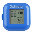 "1"" LCD Screen USB Rechargeable Ring Fingers Fingertip Pulse Oximeter - Blue"