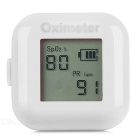 "1"" LCD Screen USB Rechargeable Ring Fingers Fingertip Pulse Oximeter - White"