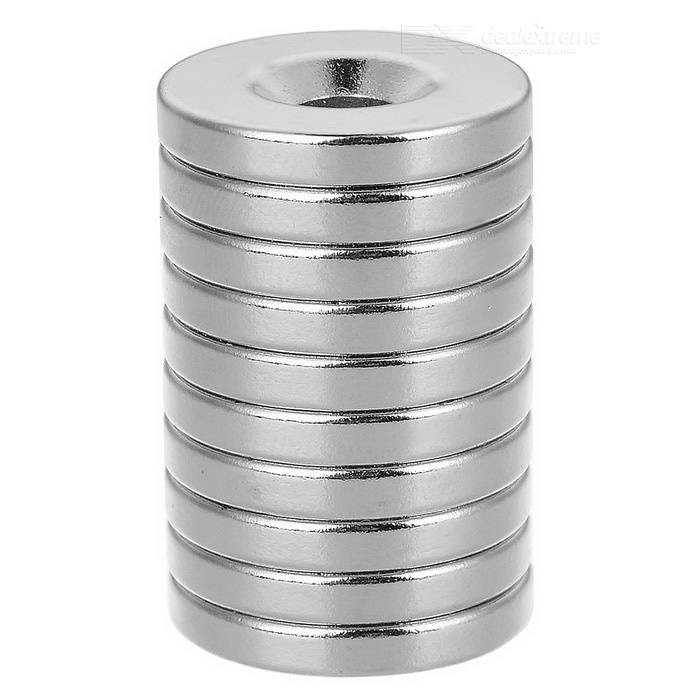 18 x 3-5mm Round NdFeB Neodymium Magnet - Silver (10pcs)Magnets Gadgets<br>Form  ColorSilver 10pcsMaterialNdFeBQuantity1 DX.PCM.Model.AttributeModel.UnitNumber10Suitable Age 8-11 years,12-15 years,Grown upsOther FeaturesDiameter: 18mm, thickness: 3mm, hole diameter: 5mm, tolerance: +/-0.1mm, working temperature: max. 80C.Packing List10 x Magnets<br>