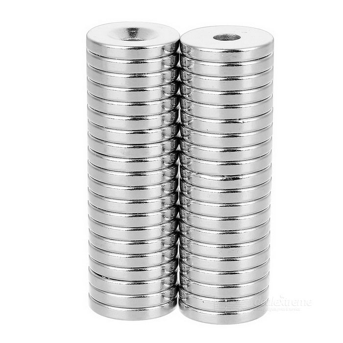 18 x 3-5mm Round NdFeB Neodymium Magnet - Silver (40pcs)Magnets Gadgets<br>Form  ColorSilver 40pcsMaterialNdFeBQuantity1 DX.PCM.Model.AttributeModel.UnitNumber40Suitable Age 8-11 years,12-15 years,Grown upsOther FeaturesDiameter: 18mm, thickness: 3mm, hole diameter: 5mm, tolerance: +/-0.1mm, working temperature: max. 80C.Packing List40 x Magnets<br>