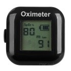 "1"" LCD Screen USB Rechargeable Ring Fingers Fingertip Pulse Oximeter - Black"