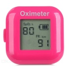 "1"" LCD Screen USB Rechargeable Ring Fingers Fingertip Pulse Oximeter - Deep Pink"