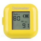 "1"" LCD Screen USB Rechargeable Ring Fingers Fingertip Pulse Oximeter - Yellow"