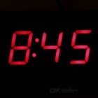 "DIY Multifunctional 2"" Car Red LED Digital Clock Support Temperature Voltage Clock Display - Black"