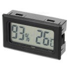 "1.6"" LCD Display Embedded Car Thermometer Hygrometer Humidity Temperature Meter Tester - Black"