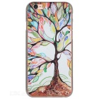 Colorful Tree Pattern Plastic Back Case for IPHONE 6 / 6S - White + Multicolor