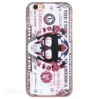 Dollar + Skull Pattern Plastic Back Case for IPHONE 6 / 6S - White + Multicolor
