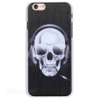 Protective Skull Pattern Plastic Back Case for IPHONE 6 / 6S - Black + White