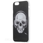Protective Skull Pattern Back Case for IPHONE 6 / 6S - Black + White
