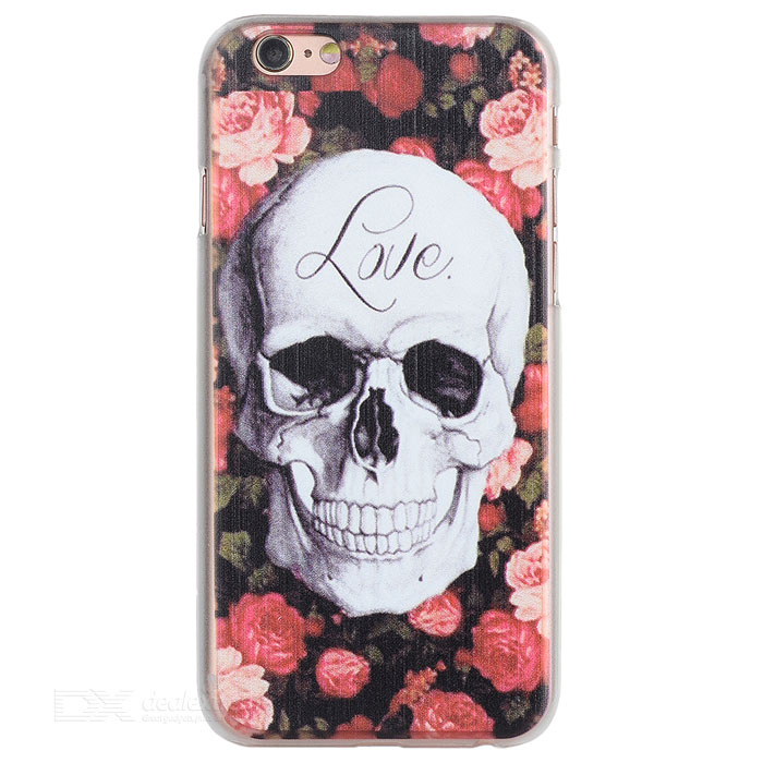 Skull Style Back Case for IPHONE 6 / 6S - Black + White + Multicolor