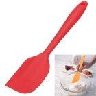 Kitchen Silicone Cake Spatula Butter Mixer Cake Tool Mixing Batter Scraper - Red