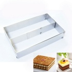 Rectangle Mousse Mould Adjustable Retractable Size 10.8-20.6 inch Stainless Steel Tiramisu Cake Mold