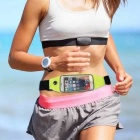 "Waist Bag w/ 5.5"" Touch Mirror Screen for IPHONE 6 PLUS - Blue"